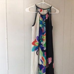 AMANDA UPRICHARD SP 100% silk maxi dress